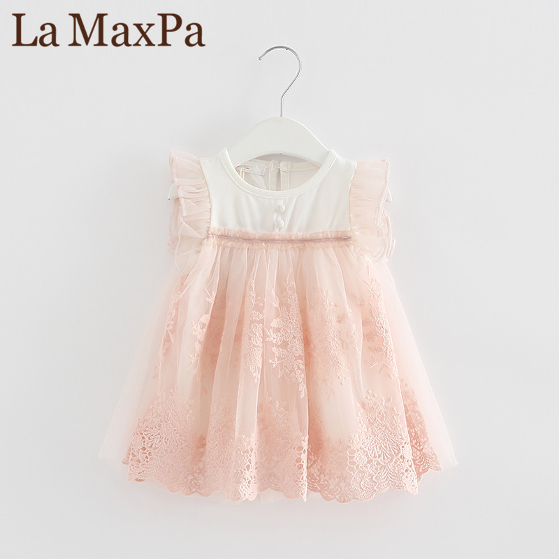 New 2018 Summer Embroidery Party Birthday Princess Kids clothes Girls baby dress baby clothing dress vestidos de bebe 2 color
