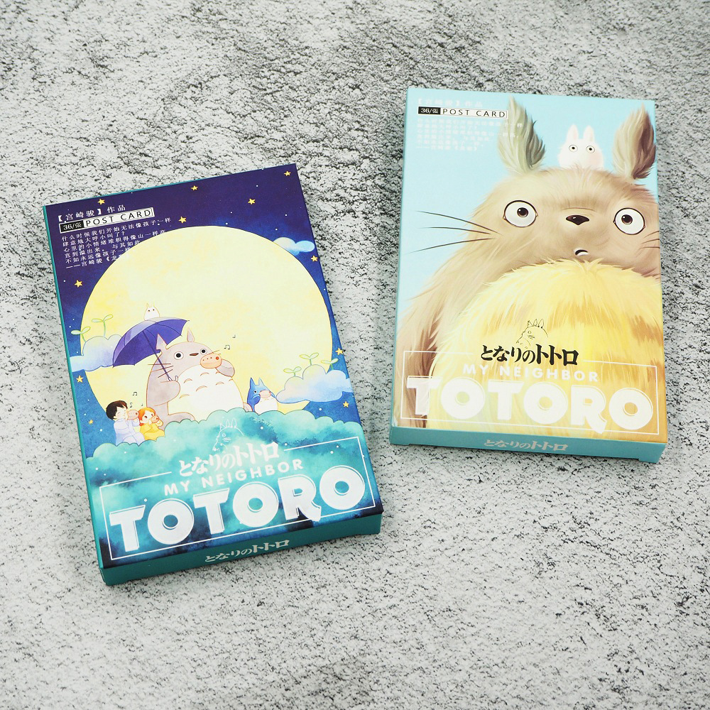 36Sheets/Set Kawaii Totoro Postcard /Greeting Card/Message Card/Christmas and New Year gifts36Sheets/Set Kawaii Totoro Postcard /Greeting Card/Message Card/Christmas and New Year gifts