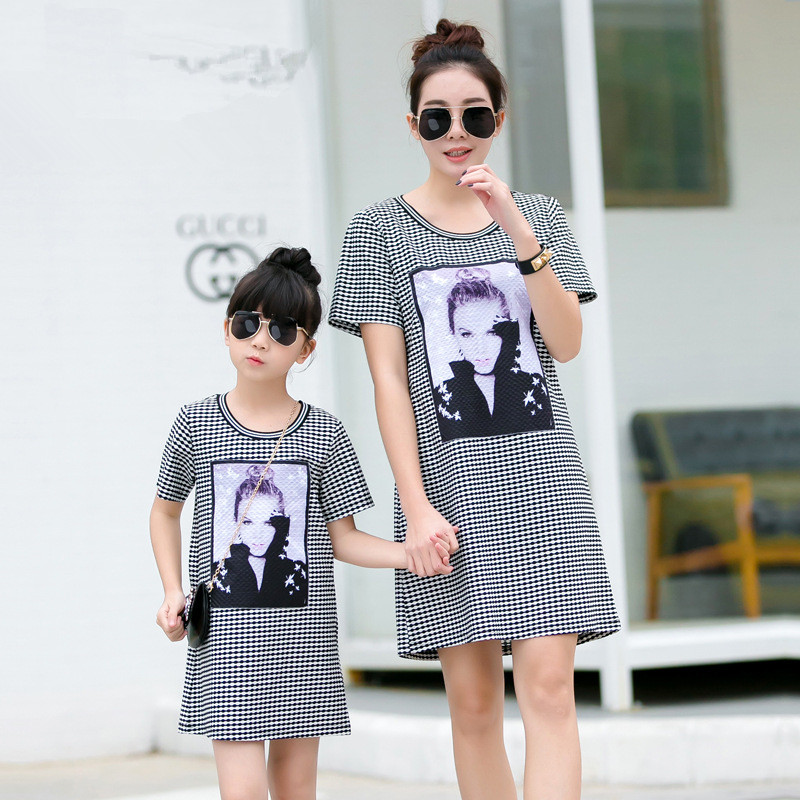 2018 mother daughter matching dresses clothes mom and daughter dress mommy and me clothes family look girl and mother dress цена
