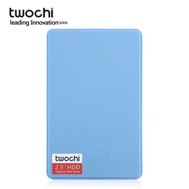 Бесплатная доставка Новые стили TWOCHI A1 5 цветов Оригинал 2,5 ''внешний жесткий диск 40 ГБ USB2.0 Портативный HDD хранения дисковый разъем и играть на ...