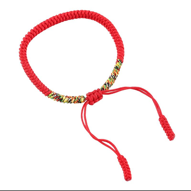 Handmade Blue Red String Buddhist Love Charm Bracelet Oriental Weaving Ropes Women Men Slim Bangle Boyfriend Friend Gifts In Wrap Bracelets From