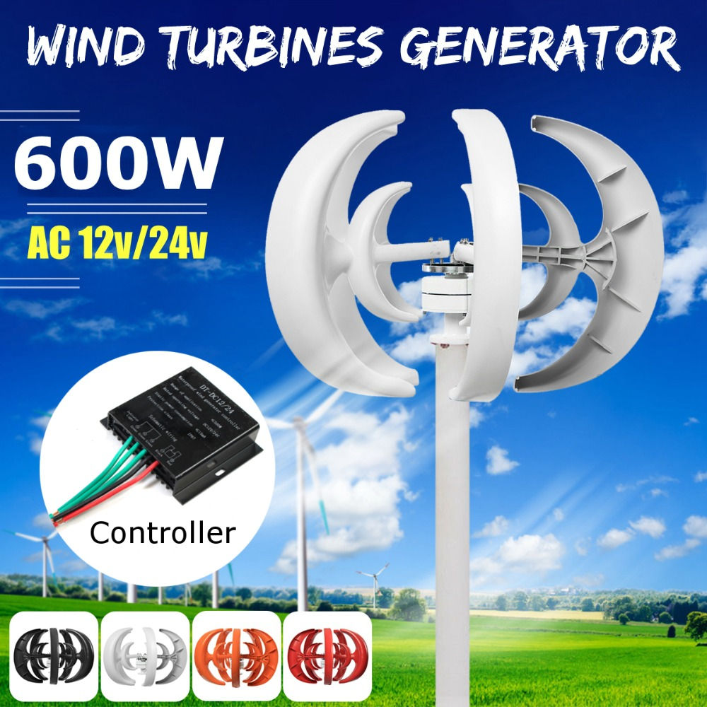 Wind Turbine 600W DC 12/24V Combine With 600W English Wind Generator Controller Home For Home Hybrid Streetlight Use 100