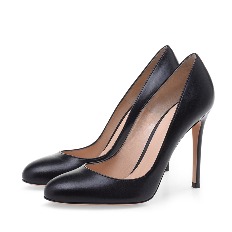 Sweet Wedding Shoes New 2018 Summer Women Fashion Pumps High Heels Fashion Black Shoes Round Toe Pumps Ladies TL A0078 in Women 39 s Pumps from Shoes