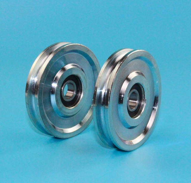2PCS/LOT (For 6MM Rope) Wheel Diameter:73mm Steel Wire Rope Pulley ...