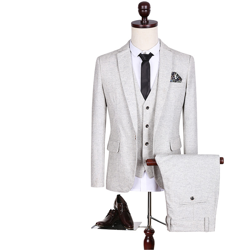 고품질 남자의 큰 크기 5XL 슬림 정장 청소년 웨딩 드레스 정식 의류 남성 비즈니스 캐주얼 정장 재킷 + 조끼 + 바지