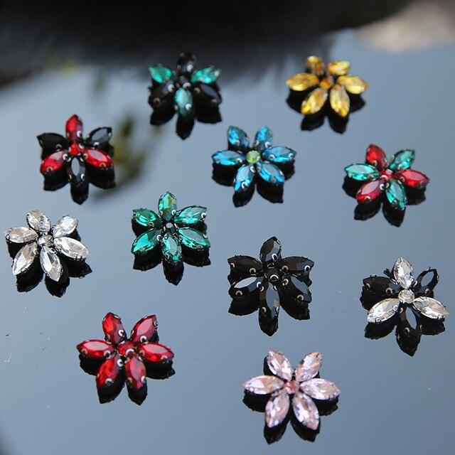 10 piunids/lote parches de flores para zapatos decorativos para vestuario coser parches de diseño para pantalones vaqueros parches bordados para ropa