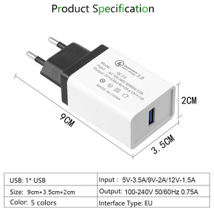 Image 5 - 5V 3.5A QC3.0 Universal Fast charging Phone Charger for iphone XS HuaweITravel Charger Wall Adapter for Xiaomi Samsung tablets