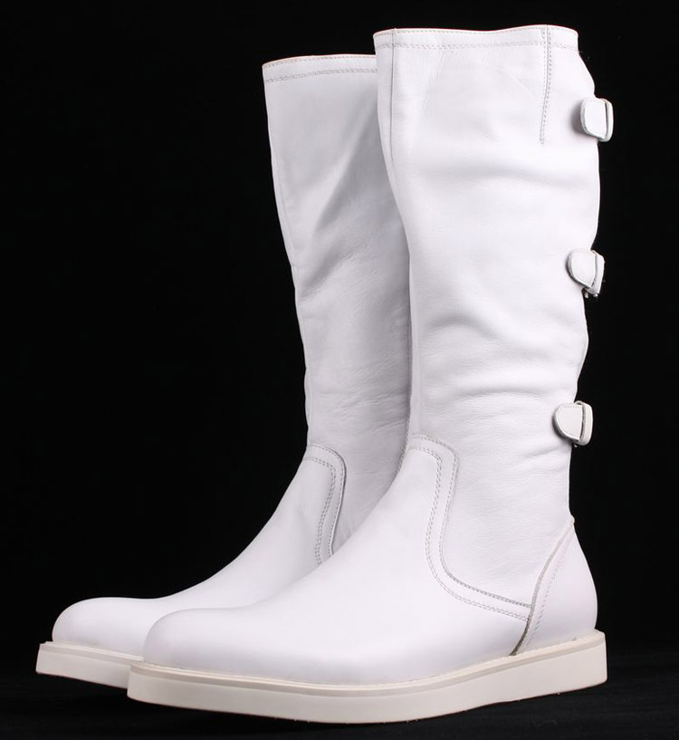 Compare Prices on Mens Knee High Leather Boots Black- Online ...