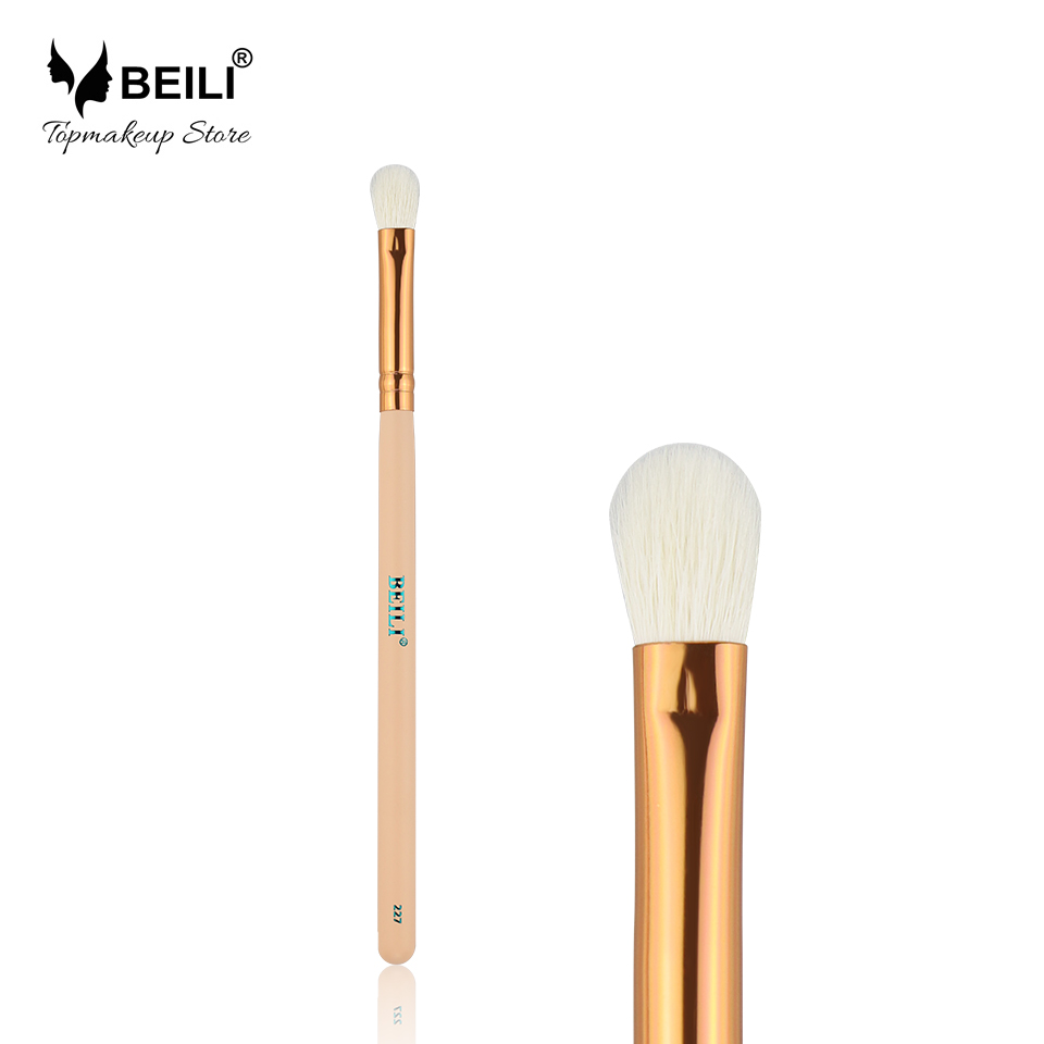 BEILI 227# Rose Golden Ferrule Natural bristle Goat Hair Eye Shadow Concealer Makeup Brushes лаки для ногтей golden rose лак golden rose rich color тон 156