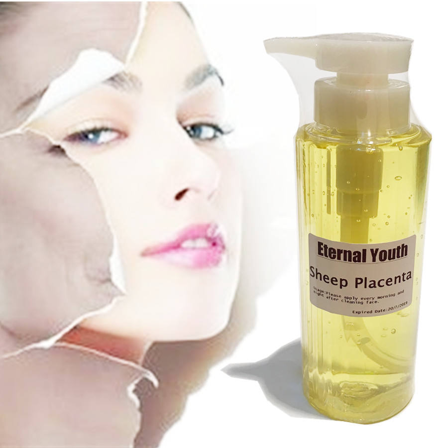 BULK SHEEP PLACENTA SERUM ESSENCE - 490ML ANTI AGING AGELESS FIRMING WRINKLES mizon placenta 45 ampoule 30ml firming lifting serum facial essence sheep placenta reduce wrinkles face cream korean cosmetic