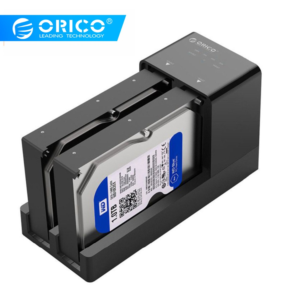 ORICO 2.5 3.5 ''USB 3.0 à SATA adaptateur HDD boîtier avec Clone double baie Station d'accueil disque dur boîtier boîtier Support 10 to