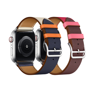 Leather Band For  Watch 40mm 44mm Series 4 High Quty Mixed Color Replacement Strap For  Series 1&2&3 38mm 42mm
