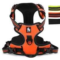 Adjustable Reflective Padded Dog Harness Nylon Walking Training Pet Vest Harness For Medium Large Dogs XS