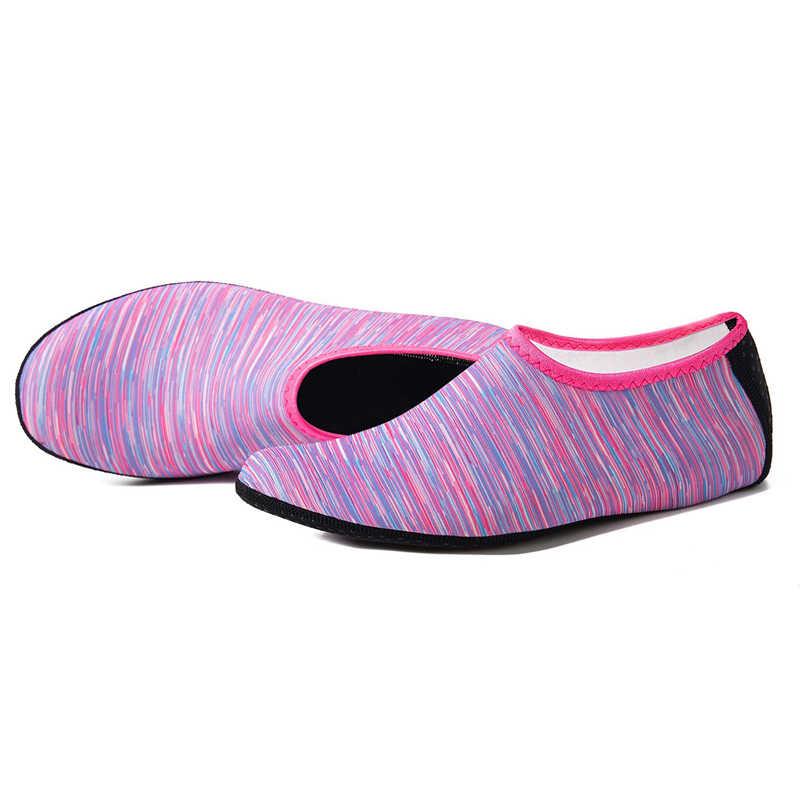 Pływanie wody buty do wody mężczyźni kobiety buty plażowe buty Unisex Aqua mieszkania miękkie do chodzenia buty do nurkowania antypoślizgowe skarpetki trampki morze kapcie