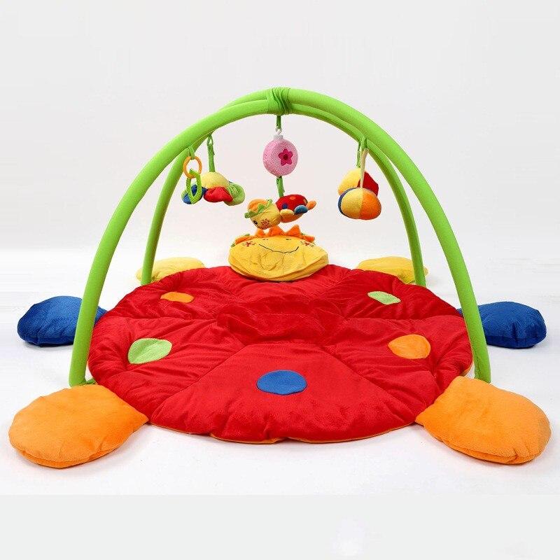 Coccinelle douce rouge bébé jouer jeu tapis nouveau Style bébé jouet éducatif ramper tampons jouer activité Gym couverture