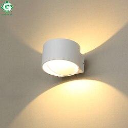 Kinkiet kinkiet nowoczesny oprawa schodowa światło 7W wystrój sypialnia kostka Mural korytarz Hotel oświetlenie ganku Aluminium Lampada LED w Wewnętrzne kinkiety LED od Lampy i oświetlenie na