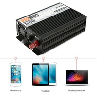 Чистая синусоида 2000 Вт DC12V к AC220V Мощность инвертор Напряжение трансформатор Кемпинг транспортных средств конвертер с ЕС Plug дропшиппинг