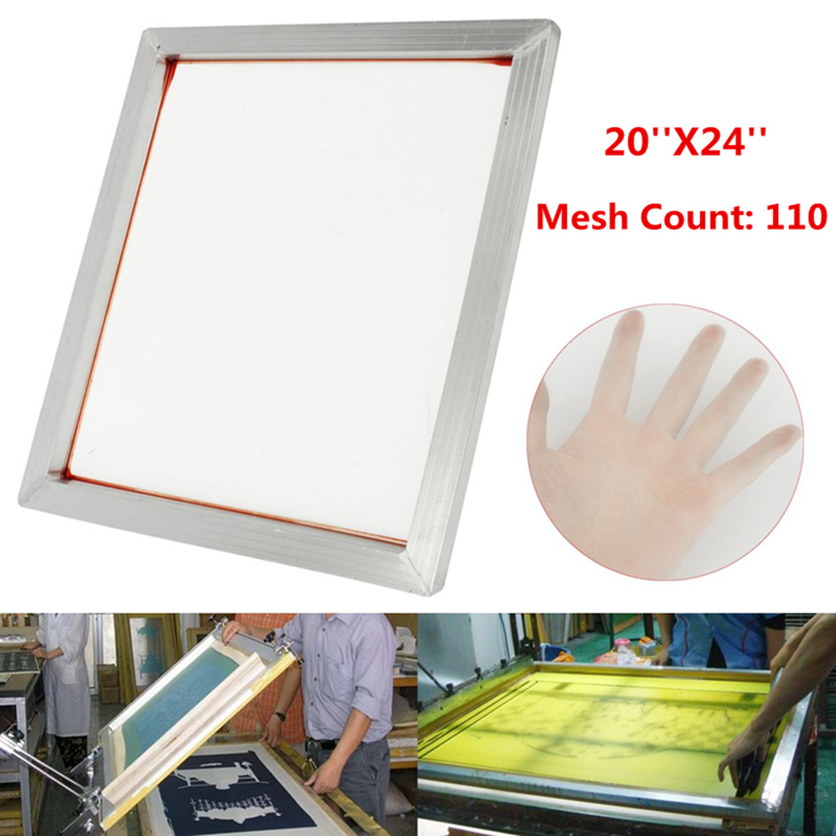 110 Mesh Screen Printing Aluminium Frame Stretched With White Silk Print Polyester Mesh For Printed Circuit Aluminium Frame110 Mesh Screen Printing Aluminium Frame Stretched With White Silk Print Polyester Mesh For Printed Circuit Aluminium Frame