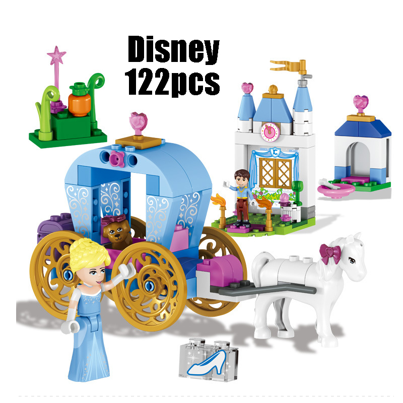 Compatible with Lego 41053 Girl Friends Kid LELE 37002 122pcs blocks Cinderella Dream Carriage building blocks toys for children конструктор lego friends кондитерская стефани 41308