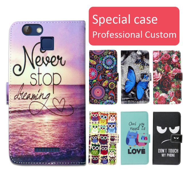 Fashion cartoon printed flip wallet leather case for Nomi i5012 EVO M2   with Card Slot phone bag book case,free gift