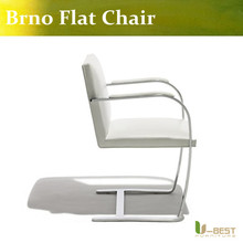 U-BEST high quality White leather Brno Flat Chair,Stable designer Brno Flat Chair, Brno Flat Chair,Brno Flat office Chair
