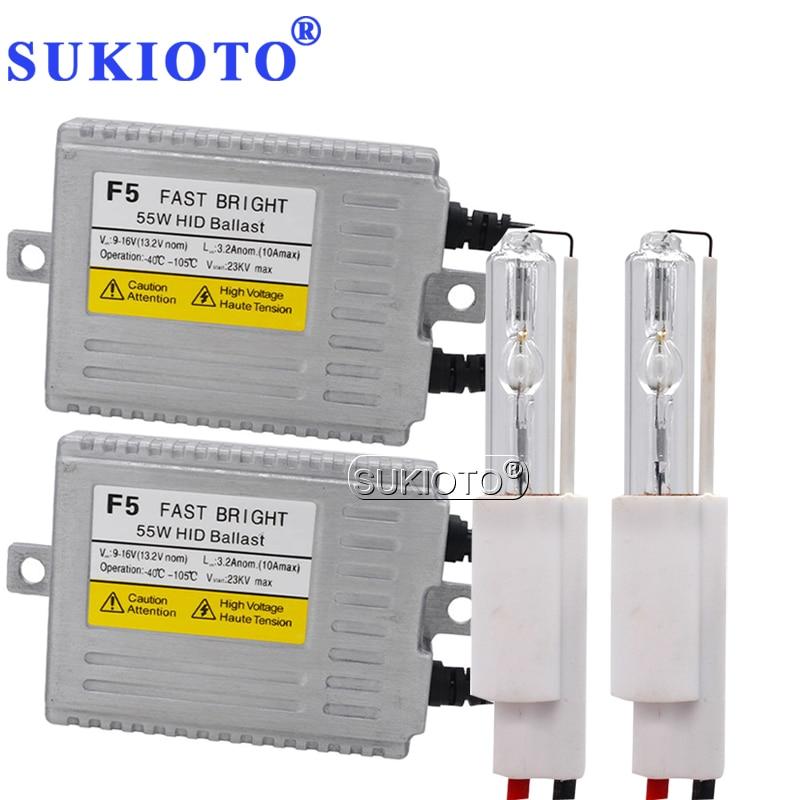 SUKIOTO 35W 55W HID Projector Lens Headlight Kit Q5 2 5 2 8 3 0 bixenon