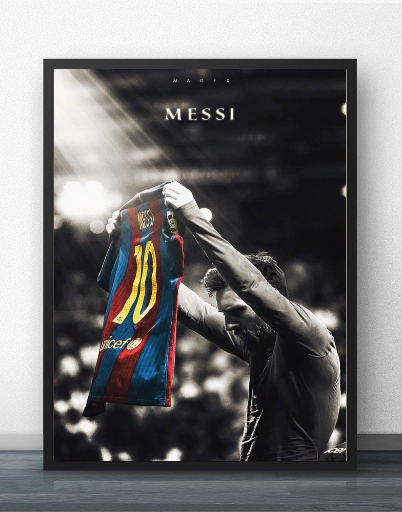 Lionel Messi Football Player Wall Art Wall Decor Silk Prints Art Poster Paintings For Living Room No Frame Drop Shipping