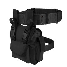 Tactical Drop Leg Pouch with Belt Men Canvas Waist Bag Military Panel Utility for Outdoor Hiking Cycling Hunting
