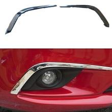 Автомобильные аксессуары спереди до туман лампа отделкой спереди бровь веко GARNISH Накладка для Mazda 6 Atenza 2013 2014 ABS Chrome 2 шт. комплект