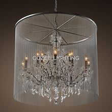 Buy crystal chandelier chains and get free shipping on aliexpress chandelierstyle vintage candle chandeliers lighting aluminum chain crystal chandelier audiocablefo