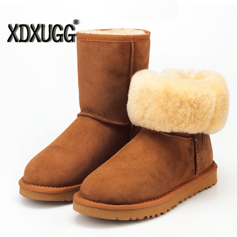 Material guarantee/Fake a lose ten! A sheep fur snow boots/female calf high winter warm classic boots, Large size/free shipping hspl fur hat guarantee 100