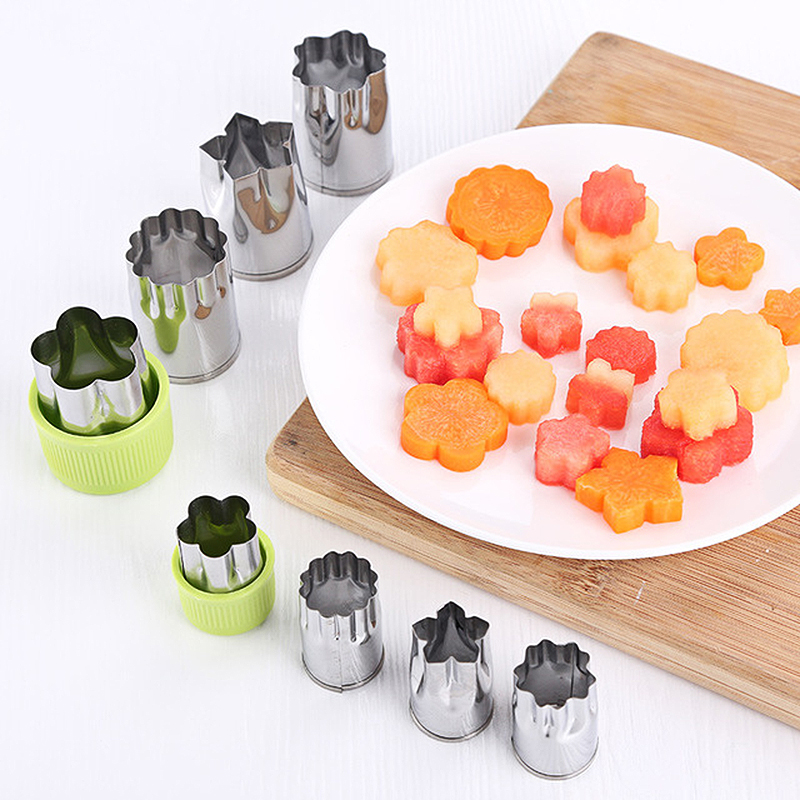 Stainless Steel Cake Moulds Tools Vegetable Cutters Set Cookie Cutter Flower for Customizing Kids Food Fruit Shape Cutter Mold in Cake Molds from Home Garden