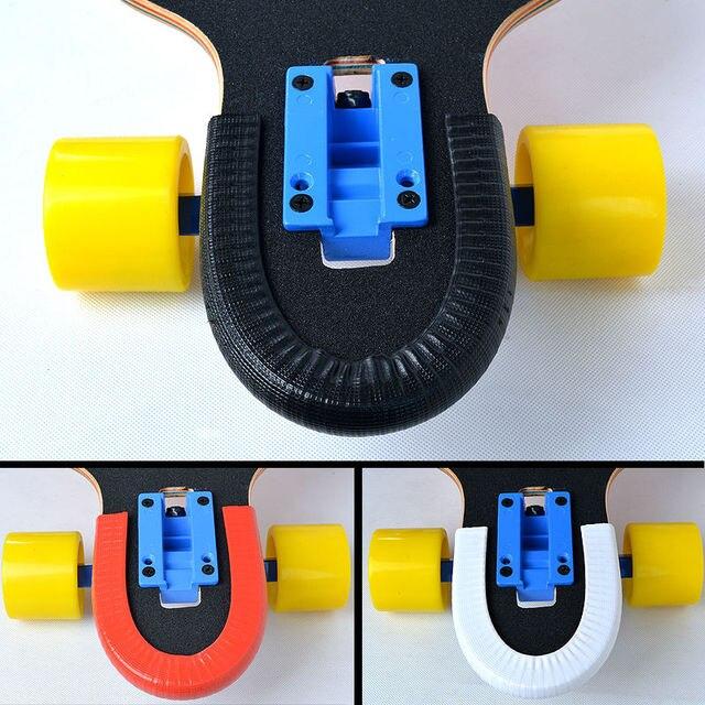 1 coppia di skateboard di protezione rotaie per longboard e doppio rocker con buona qualità e la funzione