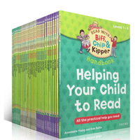 1 set 33 books 1 3 level Oxford reading tree Biff,Chip&Kipper hand book Helping Child to read Phonics English story Picture book