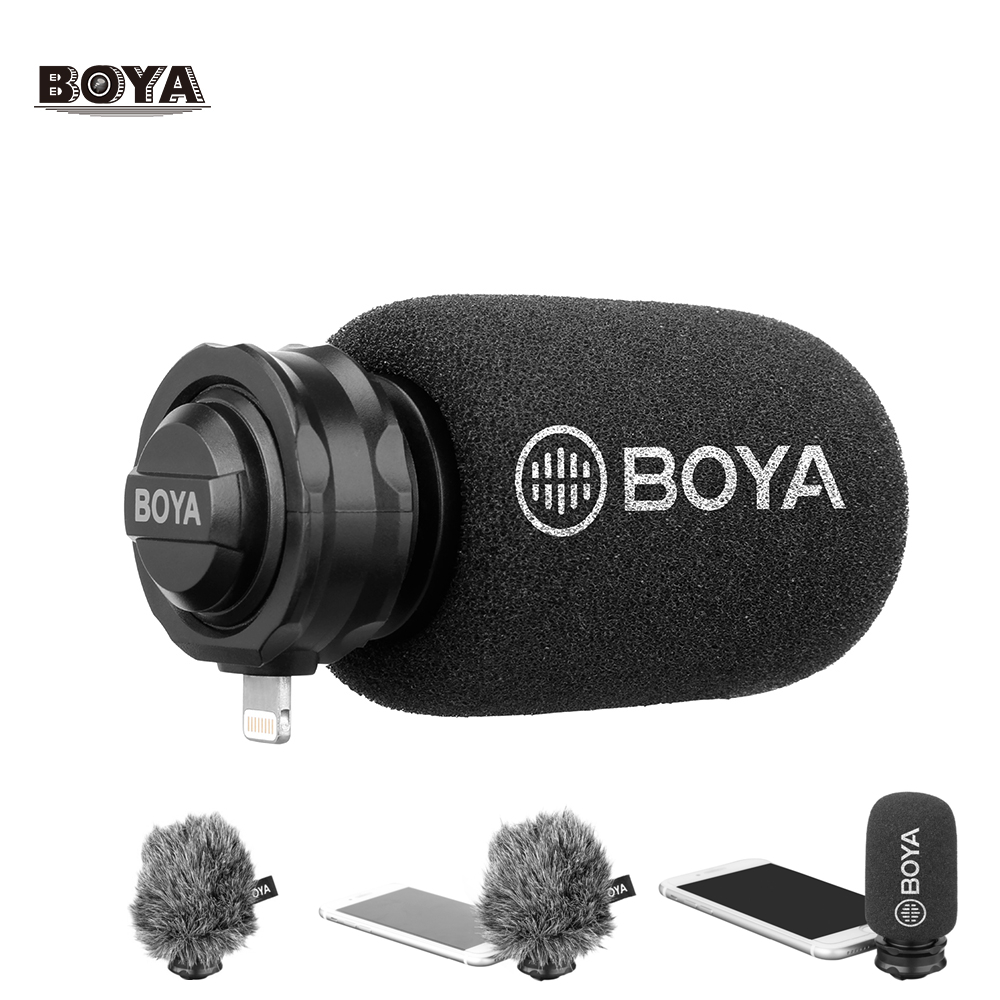 BOYA BY DM200 Digital Stereo Condenser Microphone smart phone Recording interview Input for iPhone Xs 8