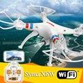 Wifi Drone Syma 2.4 G X 8 W RC Quadcopter con 2 MP cámara exploradores WiFi FPV Drone con sin cabeza modo y una tecla de retorno