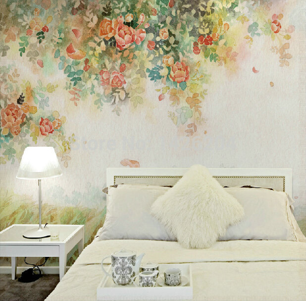 Great wall oil painting style 3d wall murals wallpaper 3d for 3d wall mural painting