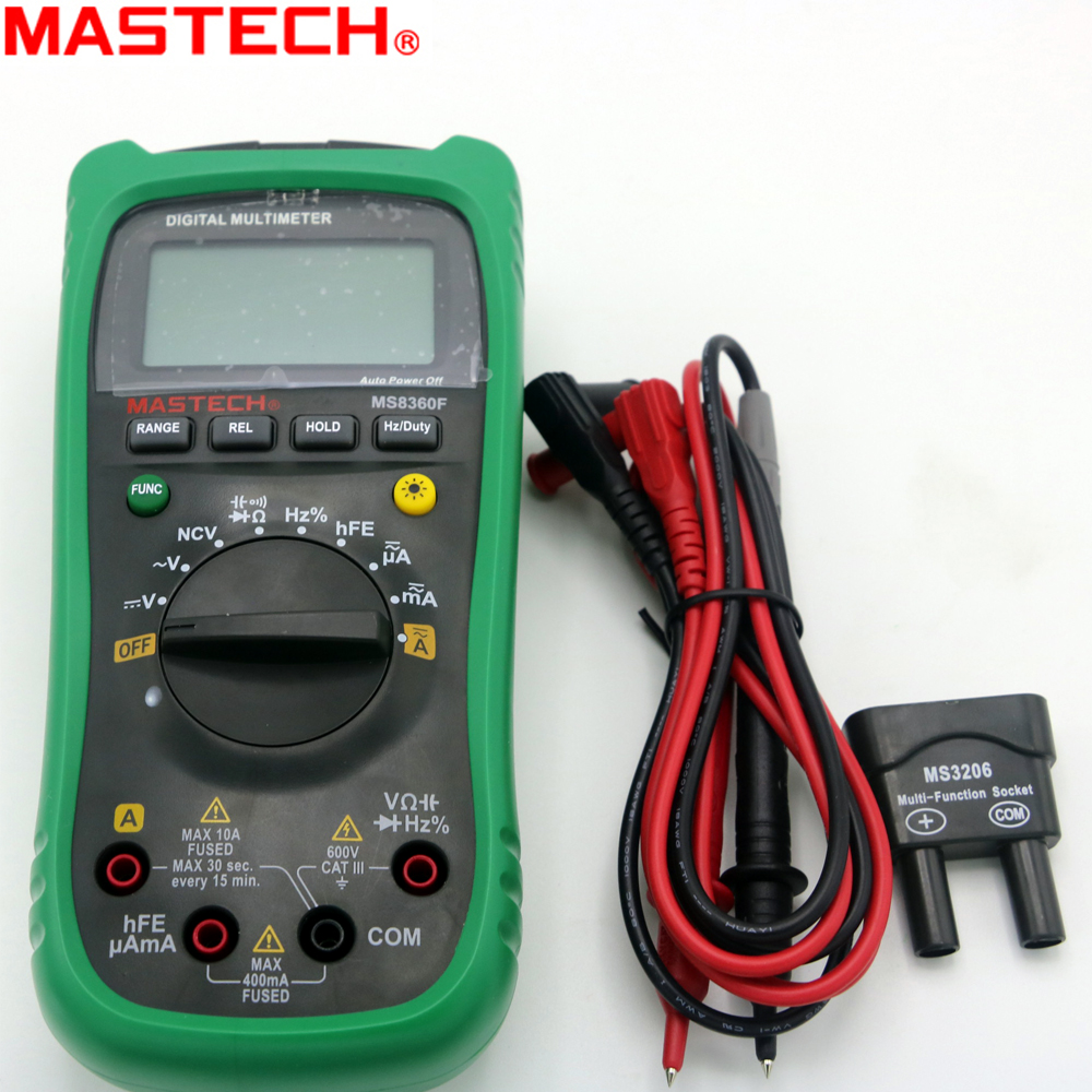 MASTECH MS8360F Auto Range Digital Multimeter DMM Frequency Capacitor NCV hFE tester comprobadores multimetros(upgraded MS8260F) 100% original fluke 15b f15b auto range digital multimeter meter dmm