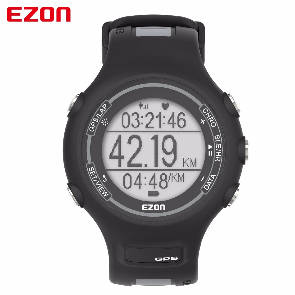 EZON Men Outdoor Sports GPS Digital Watch with Heart Rate Monitor Chronograph Waterproof Powered Bluetooth Smart Watches T907 цена