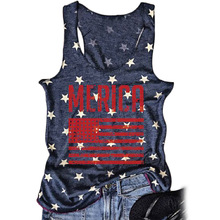 american women tank top independence day woman clothes sexy gothic plus size clothing cotton vintage print harajuku american gothic