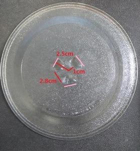 Image 2 - Qualität mikrowelle teile rotary glas platte swivel gericht palette 24,5 cm schüssel