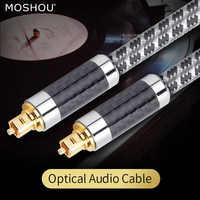 MOSHOU de fibra óptica optico digital de Audio y vídeo Cables de cobre libre de oxiácidos audiófilo HIFI DTS Dolby 5,1 de 7,1 a 1,5 M 3M 5M 8M 10M