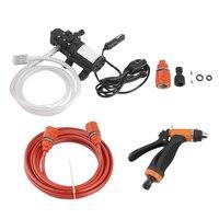 High Pressure 12V Portable 100W 160PSI Car Electric Washer Washing Machine Cigarette Lighter Water Pump Kit