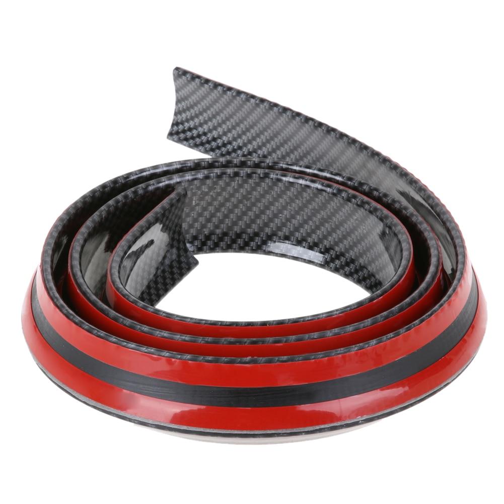 VODOOL 40mm x 1,5 m Spoiler fibra de carbono goma suave coche trasero Exterior alerón Kit encaja alta calidad para la mayoría de la promoción del coche