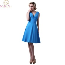 Walk Beside You Real Picture Wedding Bridesmaid Dresses under $50 Blue Party vestido dama de honra adulto Cheap Summer Dress