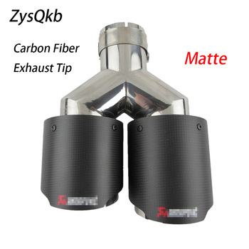 1pcs Universal Stainless Steel  Car Exhaust Tip Akrapovic Carbon Fiber Exhaust Muffler Dual Tips for any cars