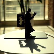 Creative Black Love Reading Batmen Metal Bookend Shelf Bookend Holder Office School Supplies Stationery Gift Home decoration