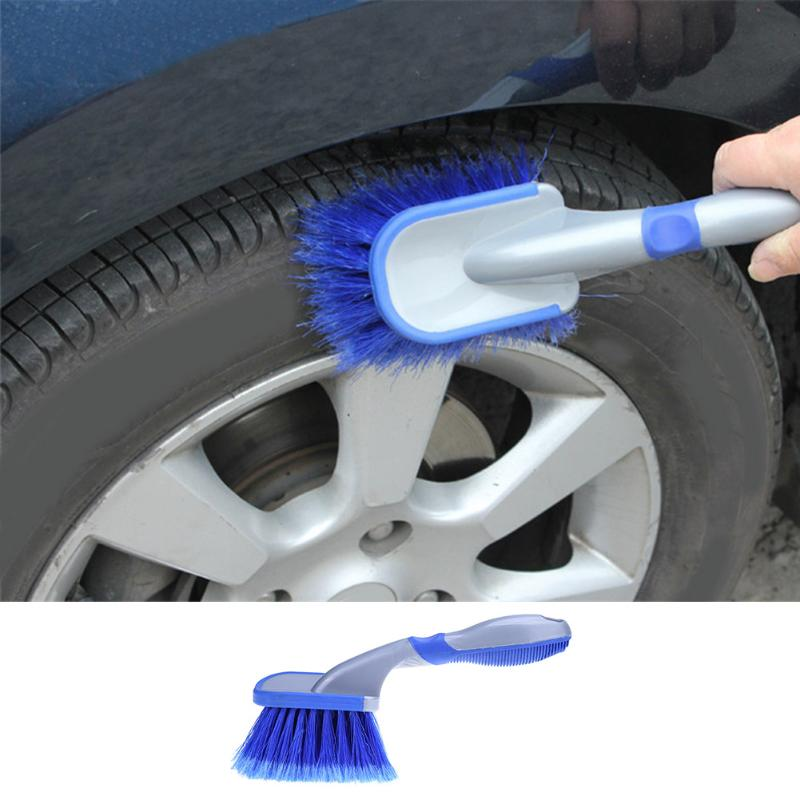 Car Washing Wheel Brush Vehicle Tire Rim Cleaning Soft Handle Brush Tool Car Motorcycle Washer Truck Clean Brushes