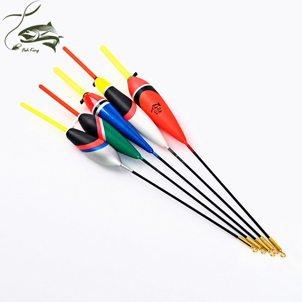 FISH KING 5PCS/Lot 1g-5g Day Night Fishing Float With 4PCS Glow Light Stick For Free Gift Pesca Boia Flotteur Peche Tackle outkit 10pcs lot copper lead sinker weights 10g 7g 5g 3 5g 1 8g sharped bullet copper fishing accessories fishing tackle