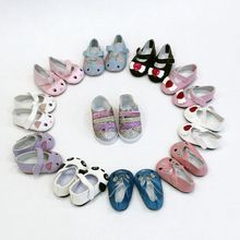 New Fashion For 43cm Baby Born Dolls Shoes Reborn Bebe Doll 7cm Mini Leather Shose 18 Inch Girl Cute